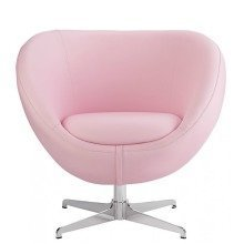 Balisy Modern Swivel Chair in Pink Contemporary Funky Design