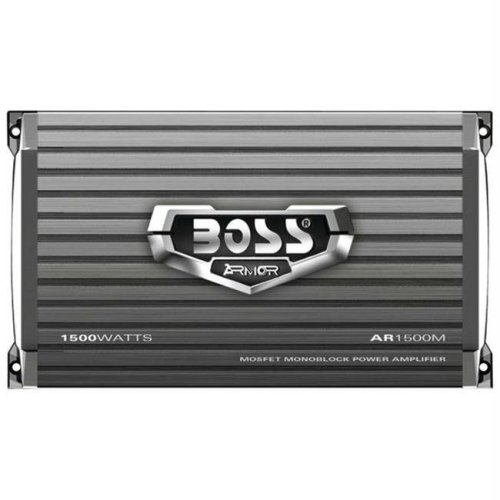 BOSS AUDIO AR1500M ARMOR MONOBLOCK MOSFET POWER AMPLIFIER WITH REMOTE SUBWOOFER LEVEL CONTROL - 150