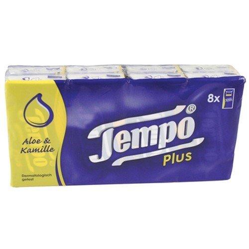 Tempo Pocket 8 Packs of Aloe Tissues