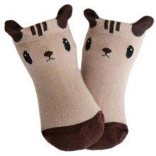 3 Pairs of Non-slip Newborn Baby Toddler Socks Warm Non-skid Stockings Baby Birthday Gift For 1-3 Year Baby-A12