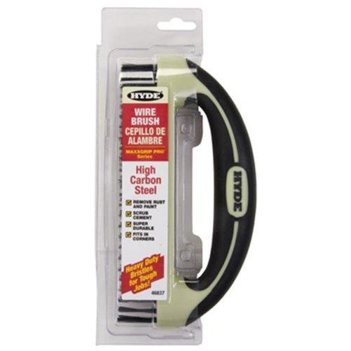 Hyde Tools 46837 8 in. Steel Ergonomic Wire Brush