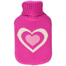 Finesse Motif Knitted Covered Hot Water Bottle -  finesse motif knitted covered hot water bottle