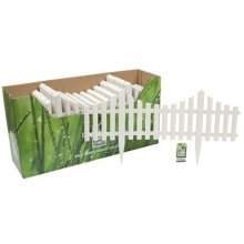 White Plastic Picket Fencing -