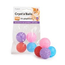 Cryst 'a' Balls Cat Toy (4pk)