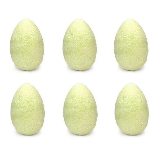 Egg Shaped Bath Bombs Fizzers 6 Pack Bathbombs Fizzy Gift Set - Banana