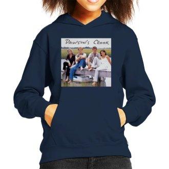 Retro Dawsons Creek Cast Kid's Hooded Sweatshirt