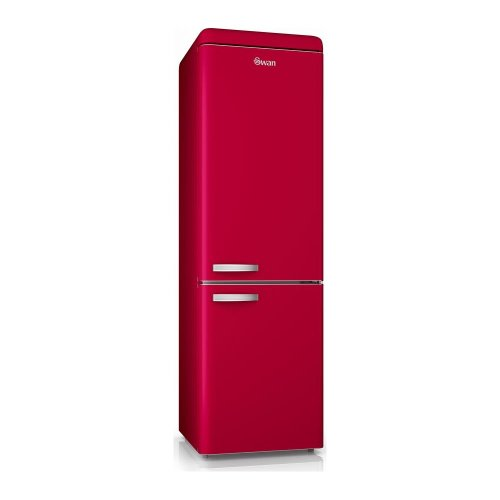 SWAN SR11020RN 70/30 Fridge Freezer - Red, Red