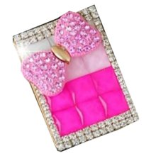 Rechargeable Lighter Stylish Rhinestone Windproof Cigarette Lighters with USB, #06