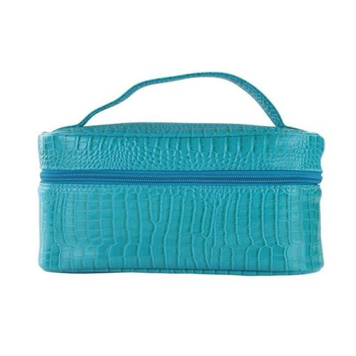 Lemondrop-Chic & Classy Insulated Cosmetics Bag For The Minimalist Cosmoqueens, Blue Turquoise