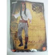 Medium Men's Pirate Costume -  pirate costume mens man fancy dress outfit adult smiffys caribbean shirt trousers belt