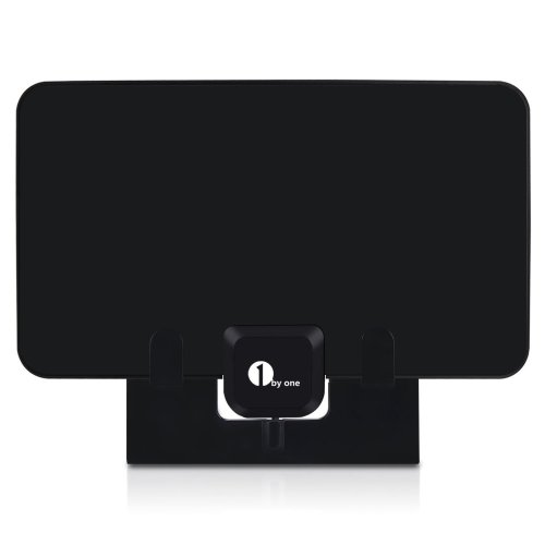 1byone Paper Thin TV Aerial Stand, Black