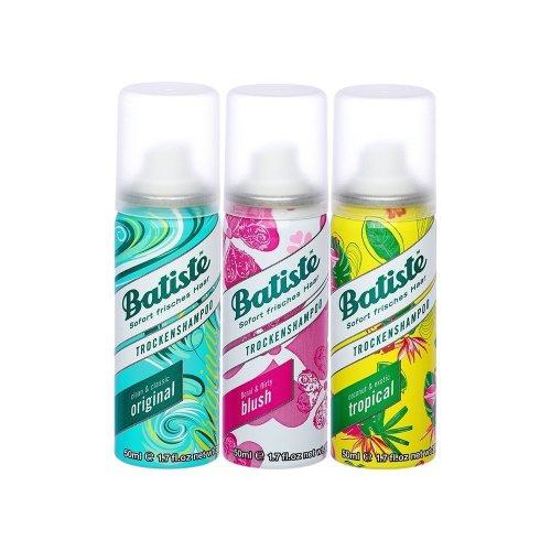 Batiste Dry Shampoo Mini Mix, on the go, Fresh Hair, Pack of 3 (2+1), 3 x 50 ml