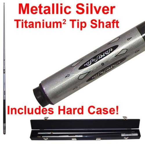 Metallic Silver Titanium Cue Billiard Stick