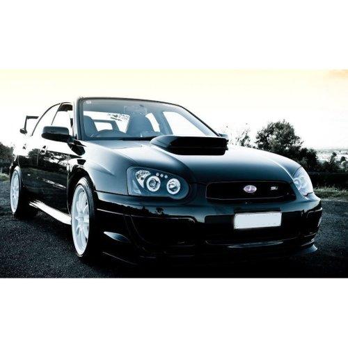 Subaru Impreza  2003-2005 Black Angel Eyes Headlights Pair