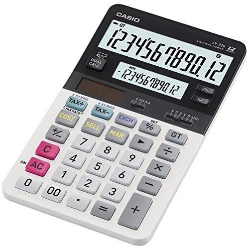 Casio JV 220 Standard Function Calculator with Dual Display