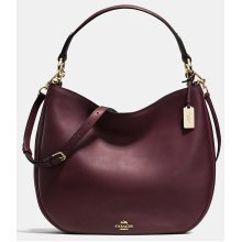 COACH Nomad Hobo in Glovetanned Leather Handbag - Oxblood / Red - 36026-LIOXB