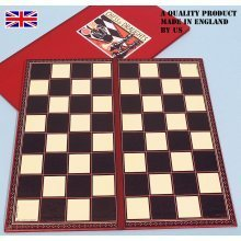 Kent & Cleal folding chess board, 40cm. square - 00406
