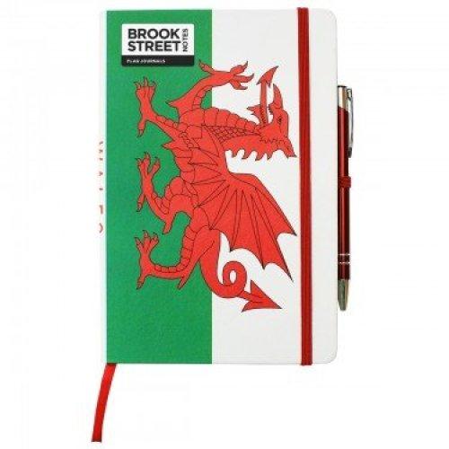 Wales Flag Notebook - Hardback A5