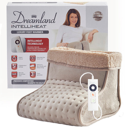 Dreamland 16456 Intelliheat 5 Heat Settings Foot Warmer in Beige
