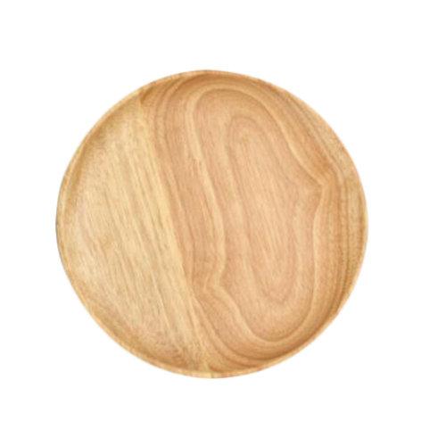 Wooden Dinnerware Fruit/ Meat/ Dessert Plates Round Shape Dishes 18.5 CM