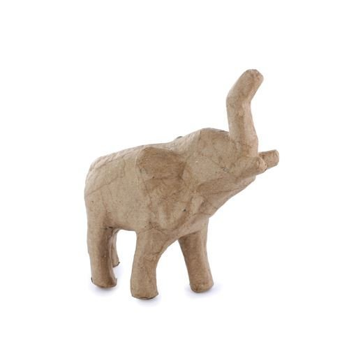 Paper / Papier Mache Elephant - 15cm x 14cm - Great For Decoupage / Napkin Art