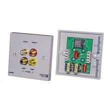 Keene CAT5blaster QC Wallplate Pair send Video and Stereo Audio over CAT5 No Power Needed