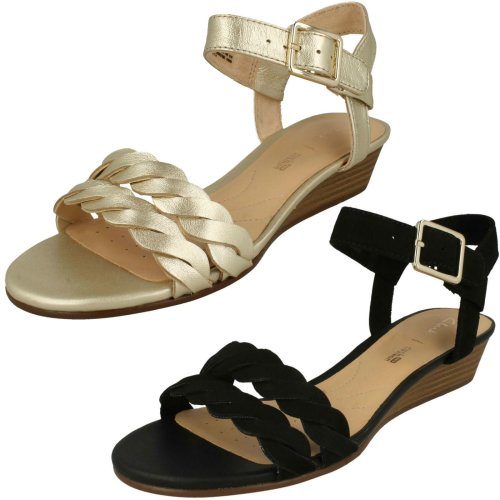Ladies Clarks Wedge Heeled Sandals Mena Blossom - D Fit