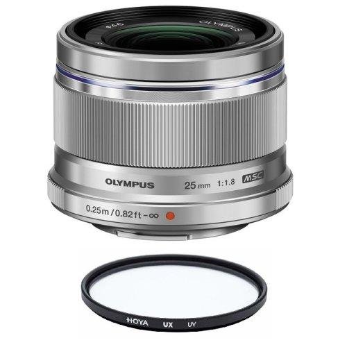 OLYMPUS 25MM F1.8 Silver + HOYA UX UV 46mm Filter