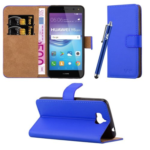 For Huawei Y6 2017 Leather Wallet Case Cover