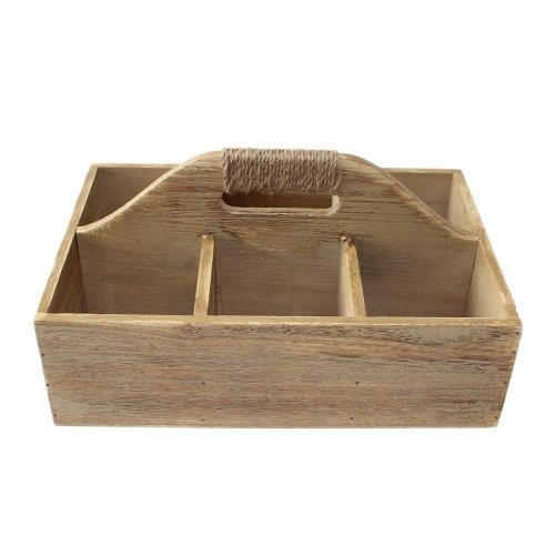 Oak Effect Wooden Garden Caddy