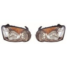 Subaru Impreza 2003-2005 Headlights Headlamps 1 Pair O/s & N/s