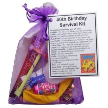 40th Birthday Survival Kit - An excellent alternative to a card