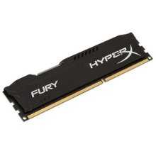 HyperX Fury Black 8GB, DDR3, 1600MHz (PC3-12800), CL10, DIMM Memory
