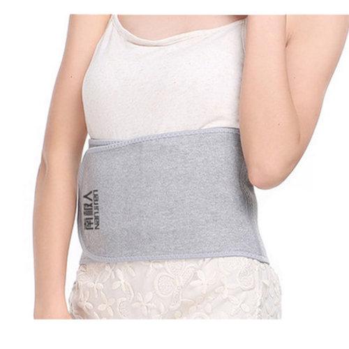 Breathable Elastic Back Waist Support Wrap Trimmer Lumbar Brace - Light Grey