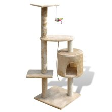 Cat Tree Cat Scratching Post 114 cm 1 Condo Beige
