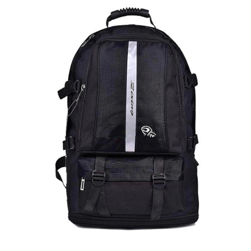 Classic College School Laptop Backpack Lightweight Nylon Travel Backpack Black