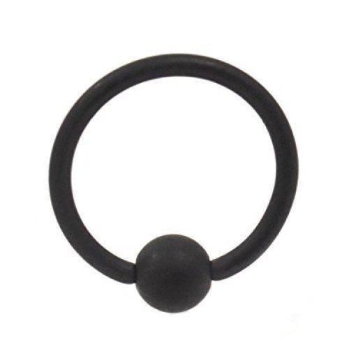 Matt Black Plated Surgical Steel CBR Captive Bead Ring Universal Piercing Body jewellery