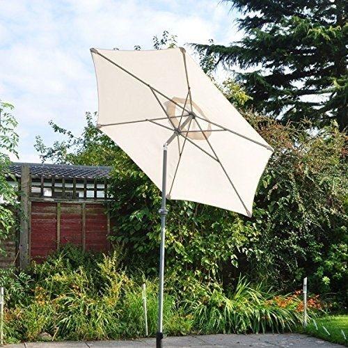 Kingfisher 2M Lightweight Cream Aluminium Outdoor Parasol