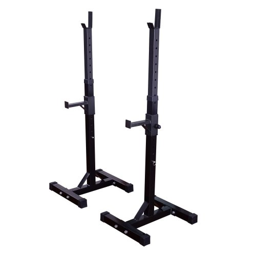Homcom Weights Bar Barbell Squat Stand Stands Barbell Rack Spotter Gym Fitness Power Rack