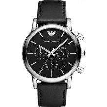 Emporio Armani AR1733 Watch Round Leather Man