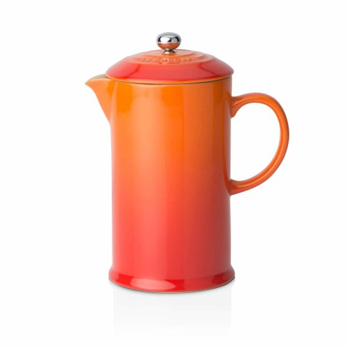Le Creuset Stoneware Cafetiere with Metal Press, 750 ml - Volcanic