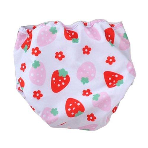[Strawberry] Reuseable Baby Swim Diaper Lovely Infant Swim Nappy Swimwear