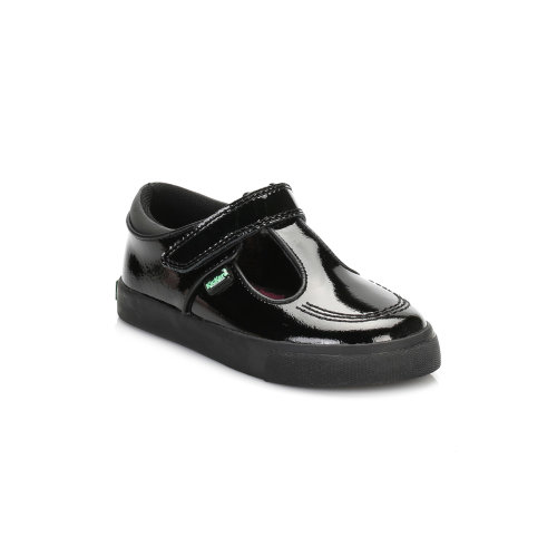 Kickers Infant Black Tovni T Bar Patent Leather Shoes