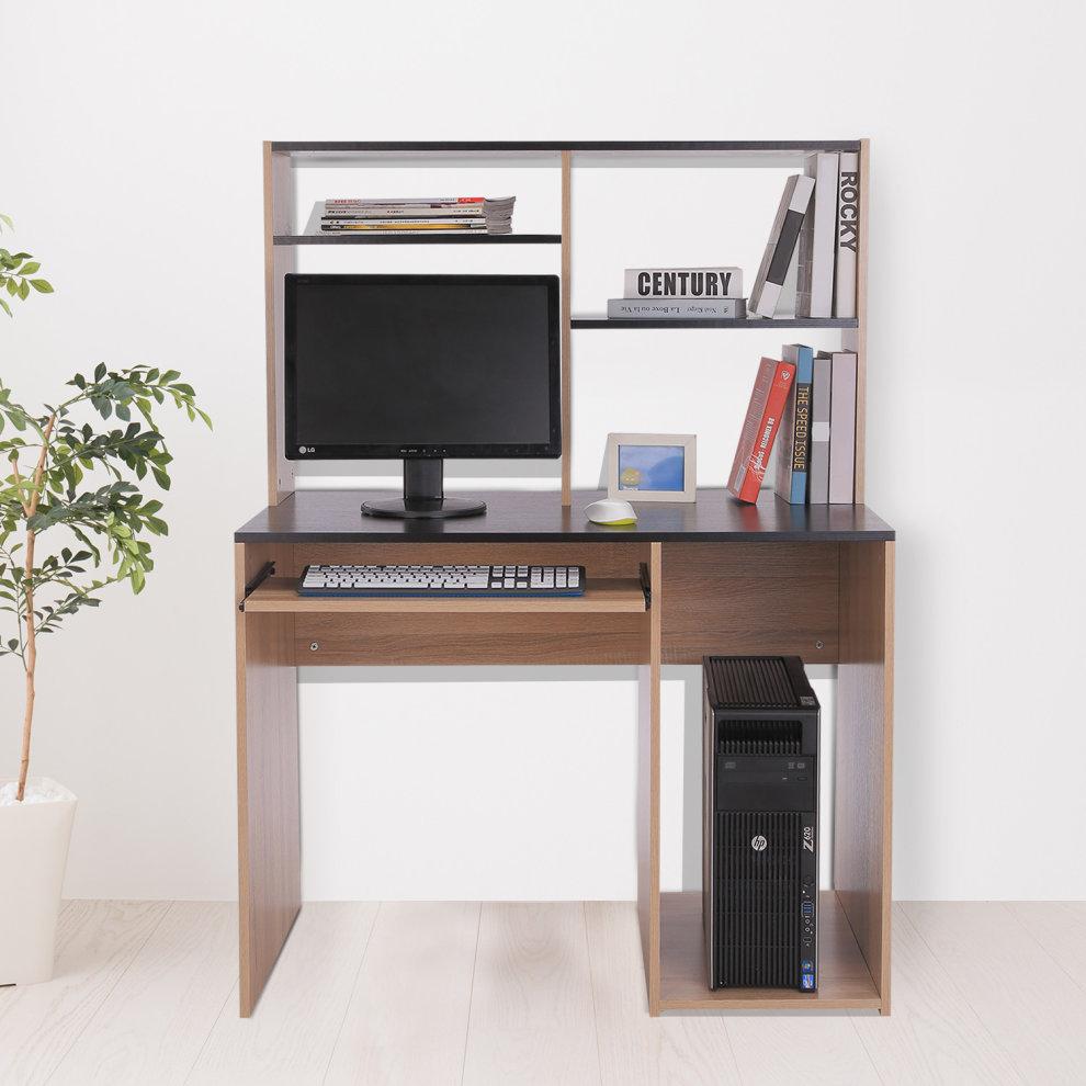 Homcom Mdf Office Workstation Computer Desk Storage Unit