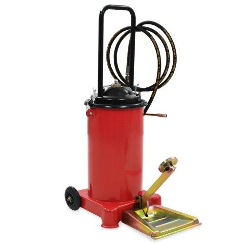 vidaXL Foot-Operated Grease Pump 12L Oil Injector Gun Fuel Supply Equipment