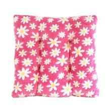 "Coral Fleece Chair Cushion Thick Floral Chair Pad Cute Pillow 14""  (Pink)"