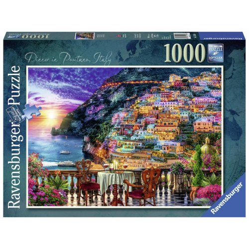 Ravensburger Dinner in Positano, Italy 1000pc Jigsaw Puzzle