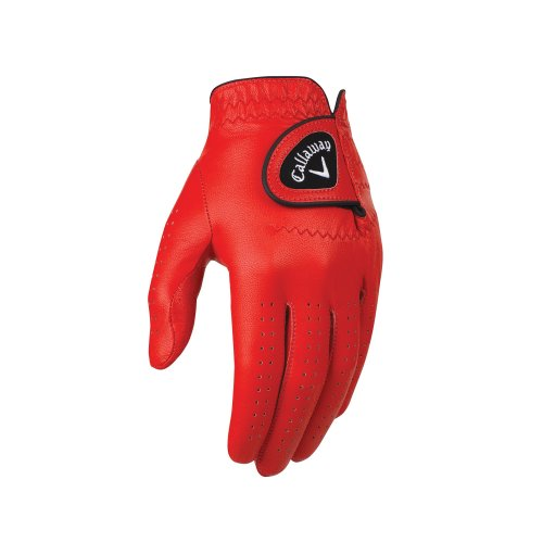 Callaway Golf Opti-Colour Gloves, Red, Large
