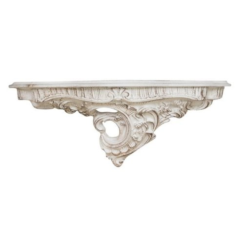 Antiqued White Finishing Wall Shelf L56xd17xh22 Cm Made In Italy