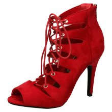 Ophelia Womens High Stiletto Heel Lace Up Ankle Boots
